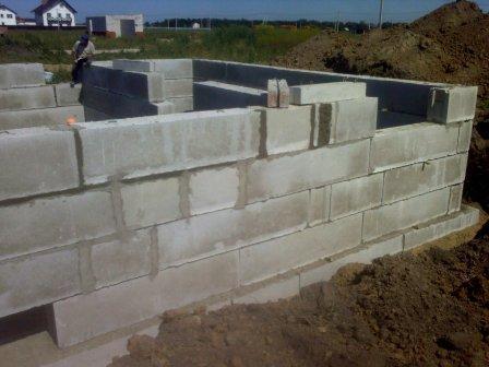 фундаментных стеновых блоков